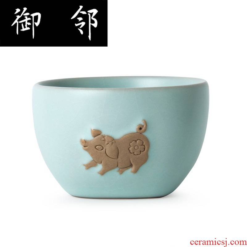 Dd authentic your up tea sets pig year zodiac money box limited edition of its ehrs teapot half group (azure)