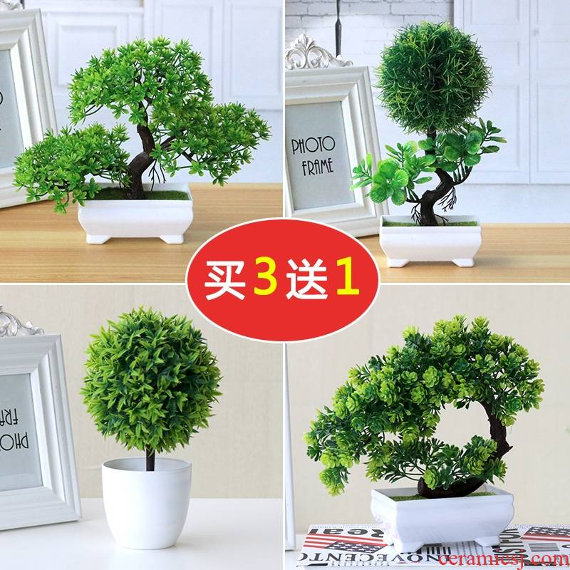 European simulation dried flowers sitting room home decoration pot set adornment place indoor table table plastic artificial flowers