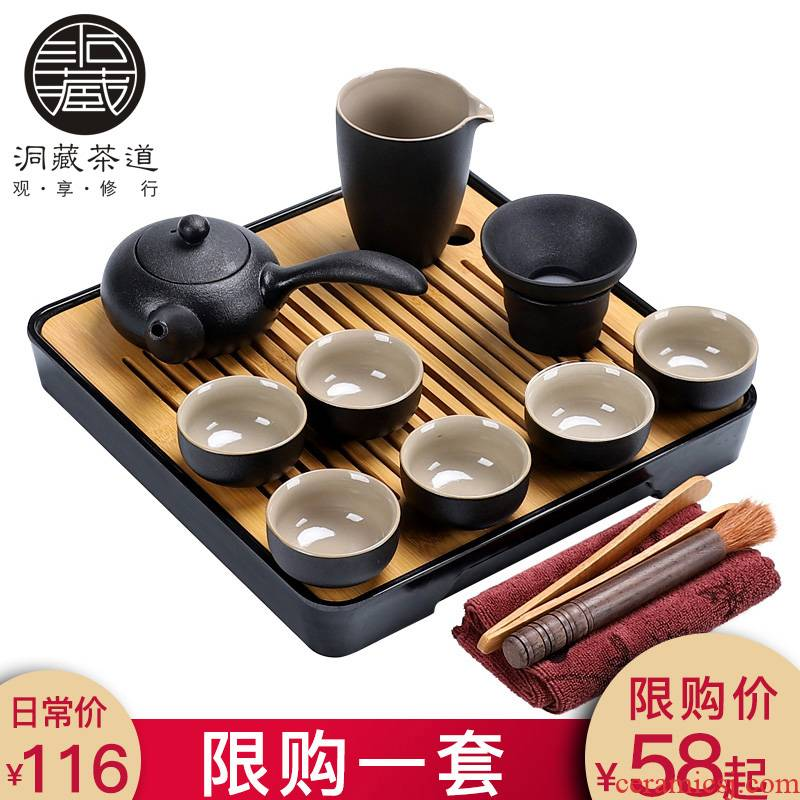 In building the European - style components of a complete set of tea service suit household contracted and I kungfu tea sets kunfu tea tea tray