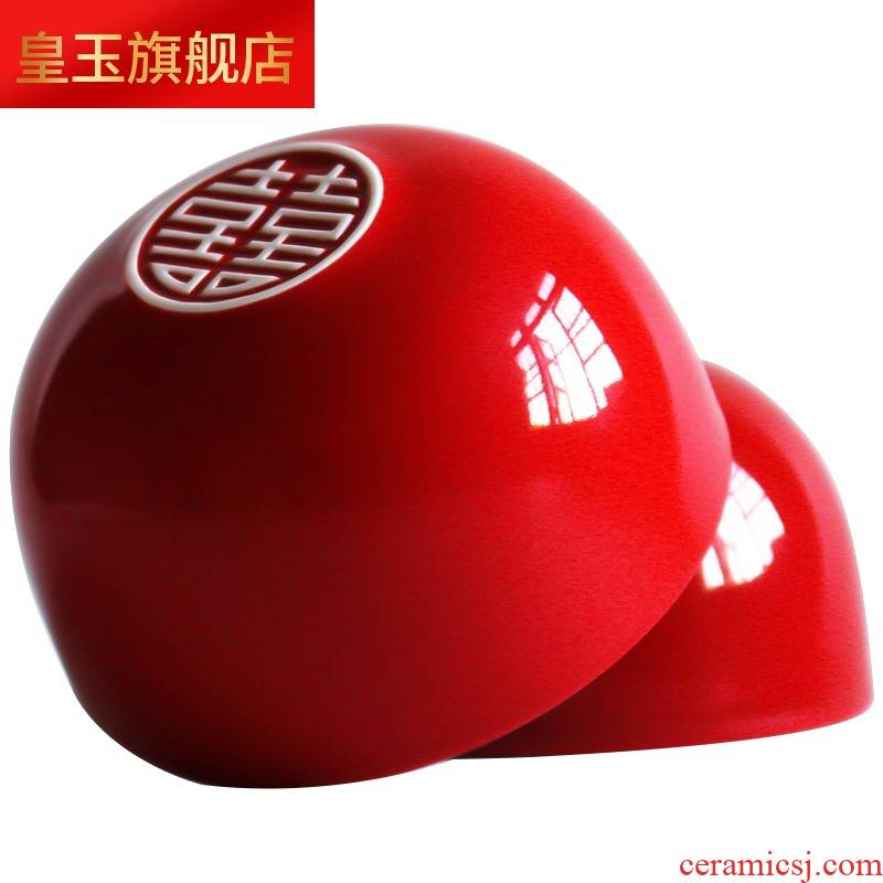 8 tyc I a pair of red ceramic xi always gifts friends gifts for porcelain bowl practical character of new wedding