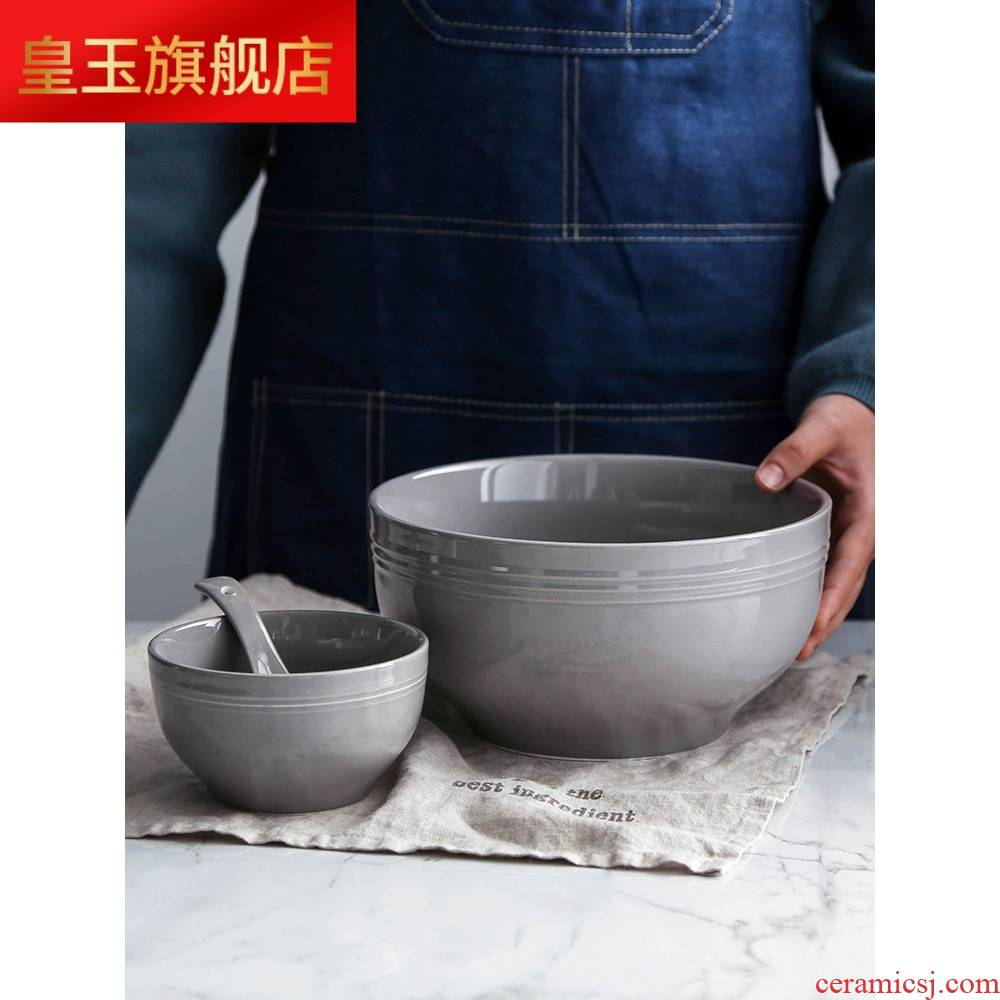 3 wx jobs household ceramic bowl plate combination of four European simple bowl chopsticks tableware six new dishes suit