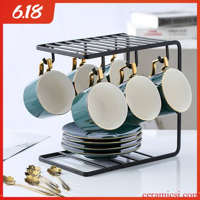 Coffee cup small European - style key-2 luxury home up phnom penh ins wind ceramic cups and saucers suit office afternoon tea cups