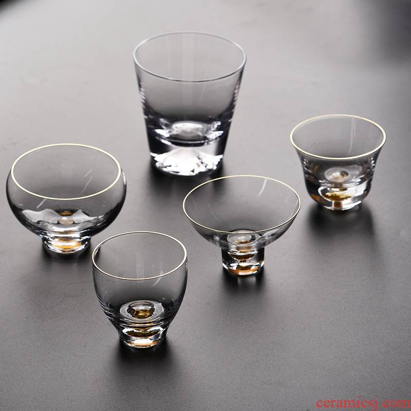 Into this monkey kung fu tea cup with parts household cup tea cups prevent hot gold foil glass sample tea cup the clear glass
