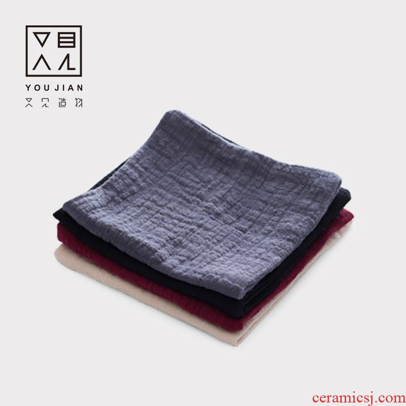 And creation of tea towel zen continous hemp bibulous thickening tea towel kung fu tea tea tea cloth accessories tea table cloth