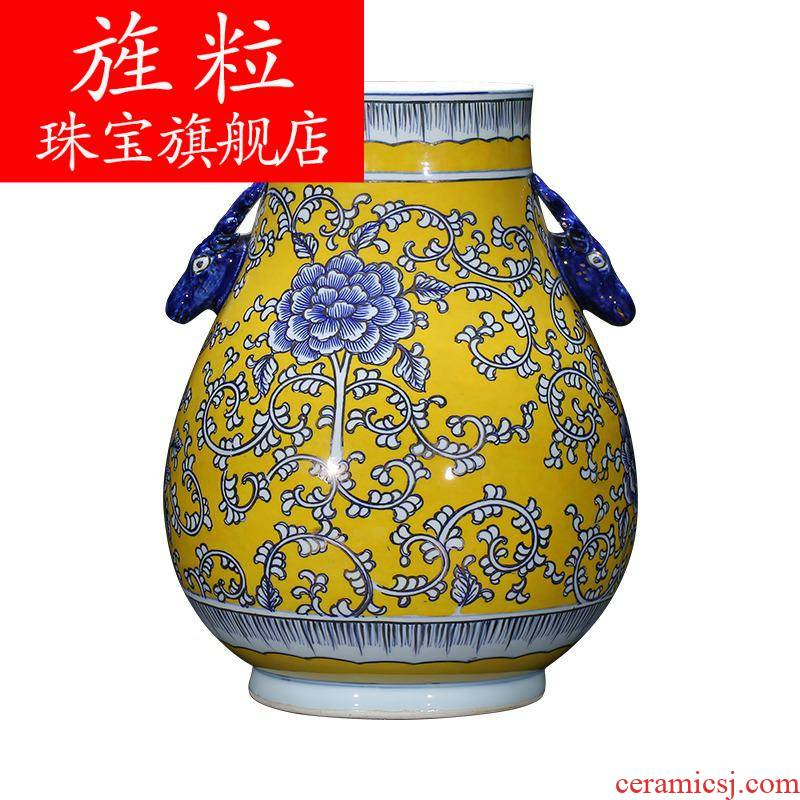 Q7 jingdezhen ceramics antique vase hand - made painting and calligraphy calligraphy and painting tube of classical Chinese style living room decorations study