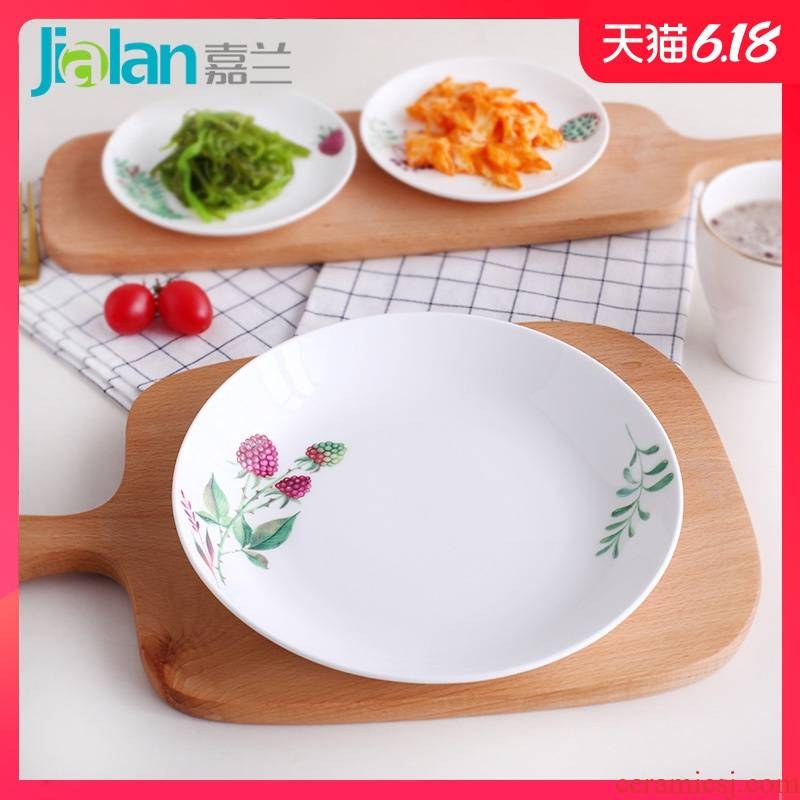 Garland ipads China from 7/8 of an inch deep dish creative ceramic plate with large capacity dishes dumplings, Fried FanPan