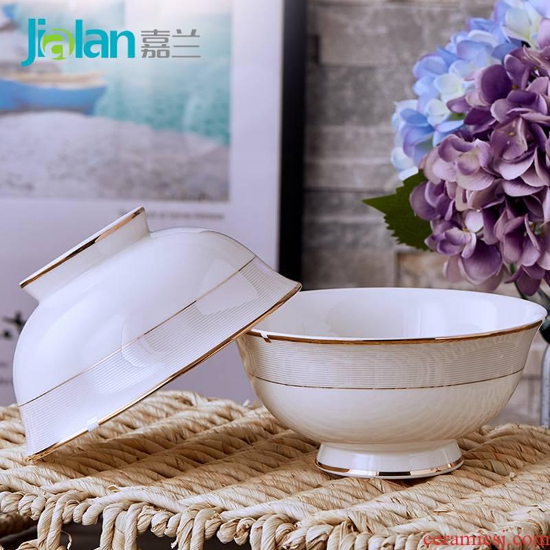 Garland ipads China 6 inches tall foot rainbow such use large capacity domestic ceramic bowl bowl of soup bowl of salad bowl