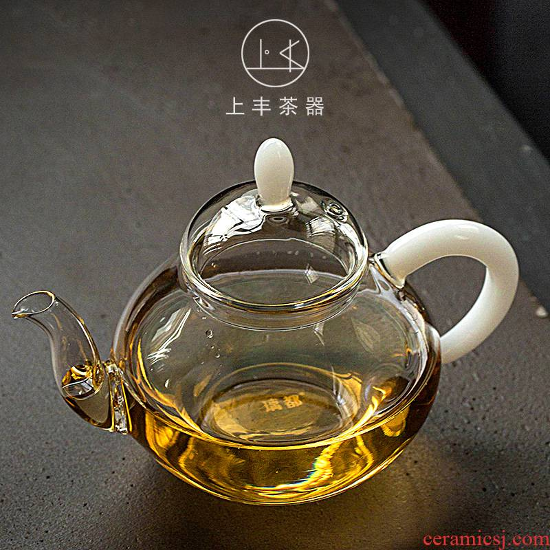 Hand on the an abundant tea glass teapot office kung fu tea filter teapot heat - resistant household contracted tea set