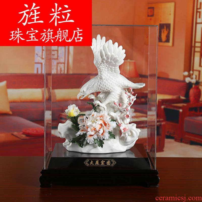 Bm dehua ceramic flower its art furnishing articles business gifts and leadership ambitions
