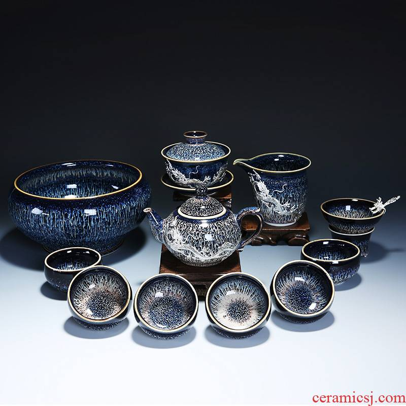 Build light coppering. As silver tea set variable kung fu tea red glaze, a complete set of ceramic teapot coppering. As silver tea cups