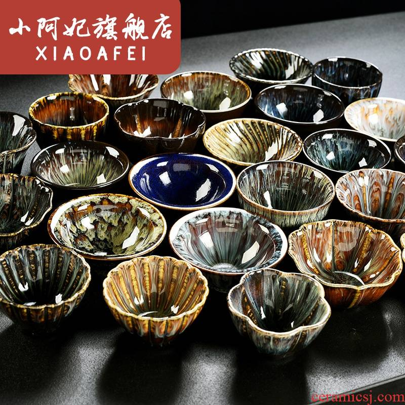 Built one masters cup single single variable sample tea cup tea cups, ceramic large kung fu tea cup hat to tea cups
