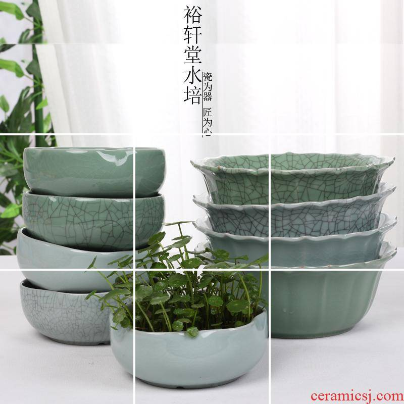 Yu xuan tong your up refers to ceramic flower pot without hole, copper bowl lotus lotus grass hydroponic indoor creative more meat