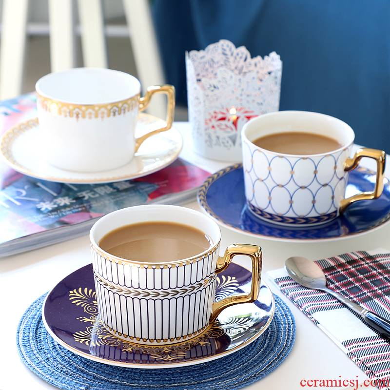 English delicate coffee cup set ceramic household continental English afternoon tea tea set red light much ipads China cups