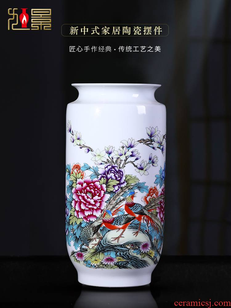Jingdezhen ceramic vases, large sitting room ground flower arranging furnishing articles Chinese calligraphy and painting scroll cylinder book the receive tube of porcelain