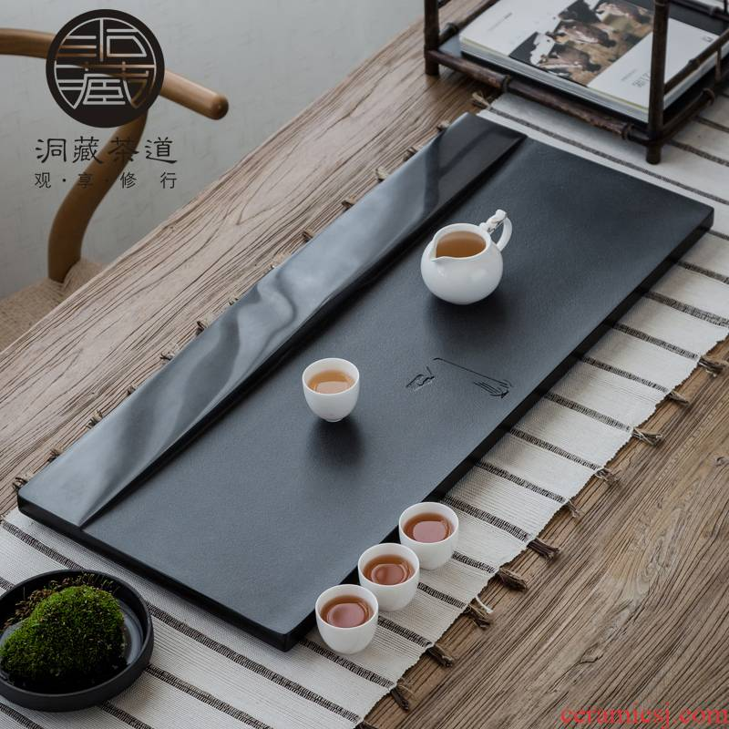 In building the whole piece of stone tea tray was sharply home to I and contracted large sitting room tea tray was rectangular stone tray