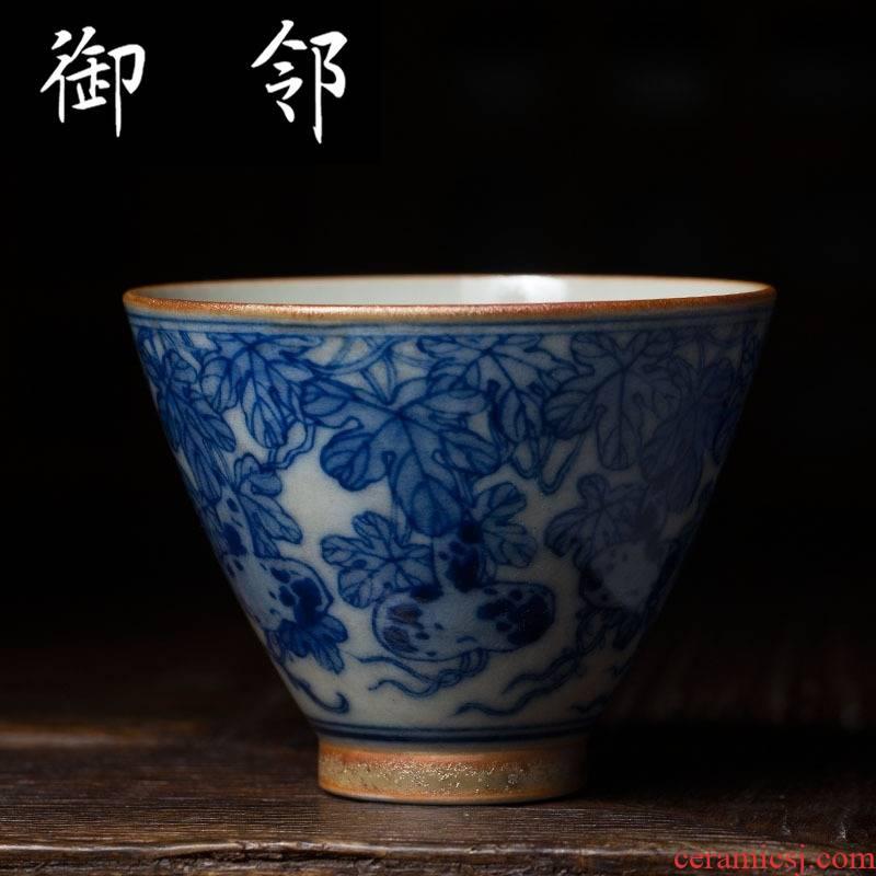 Ancient firewood hand - made porcelain sample tea cup maintain tea bowl tea cups
