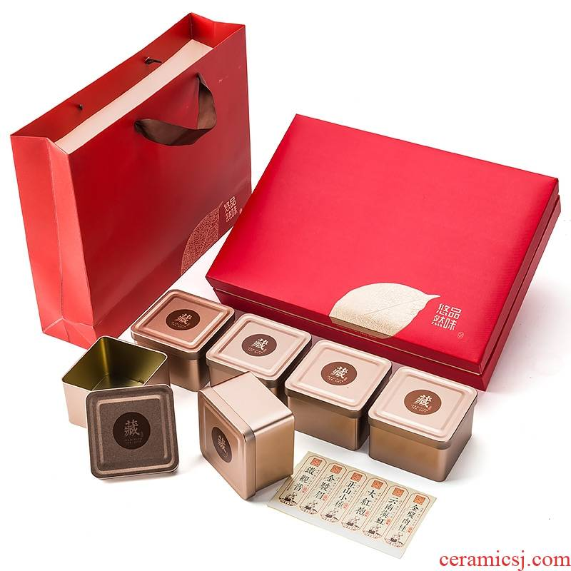 High - grade tea gift boxes, cartons is red green tea general tieguanyin tea box empty box to customize a kilo