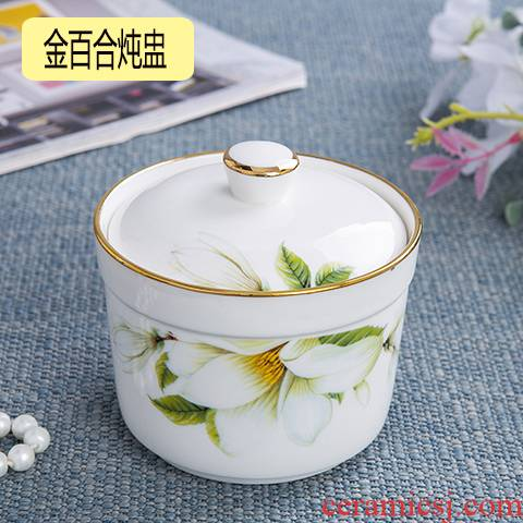 Ceramic stew stew with cover every water tank up phnom penh bird 's nest soup bowl steaming bowl cup steamed egg cup bowl dessert pot stew
