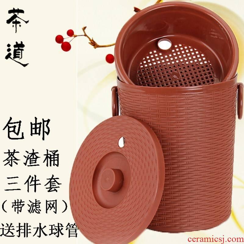 Tea table bin Tea special Tea row bucket drainage detong barrels hot Tea Tea - leaf qiu dong