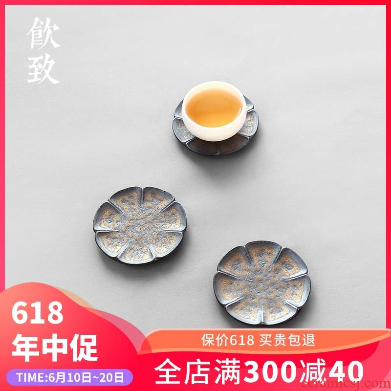 Ultimately responds to coarse after getting the gold cup mat ceramic cup creative zen kung fu tea tea tea machine spare parts