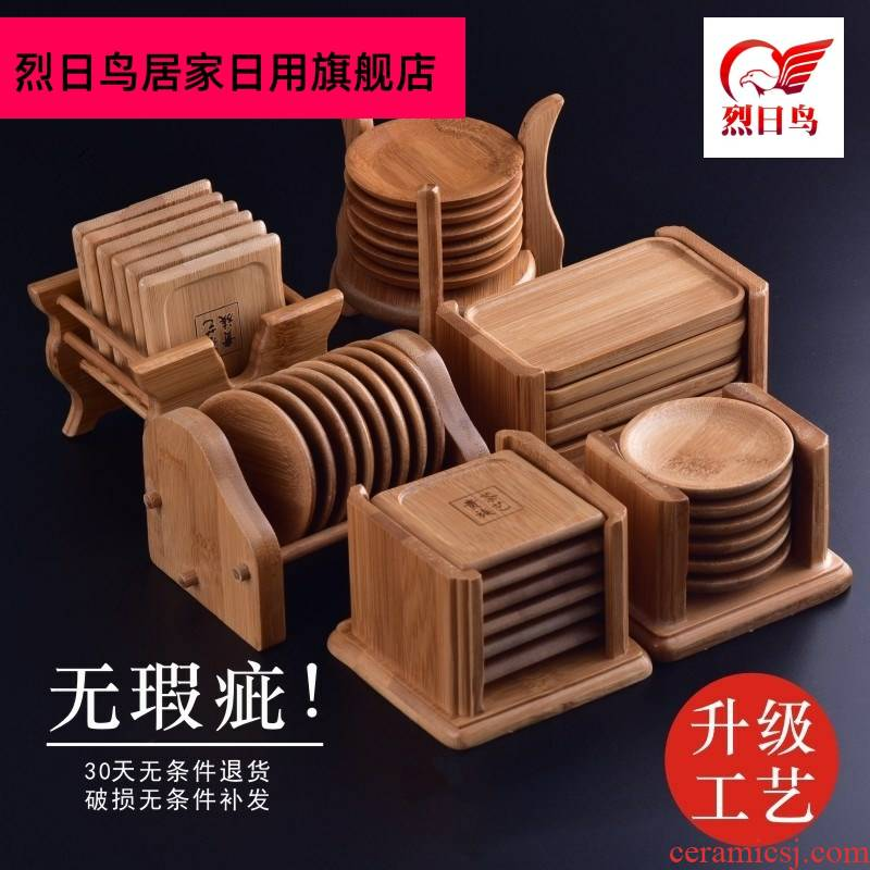 Hold the bottom doesn cups tea zen Chinese kongfu tea table against the hot tea antiskid mat accessories insulation pad