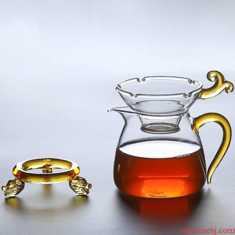 Creative) tea ware ultrafine glass tea every fair keller of tea filter accessories kit tea filters