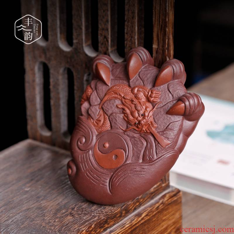Creative play yixing purple sand tea tray tea tea pet furnishing articles boutique zen tea treasure pure manual can be a dragon
