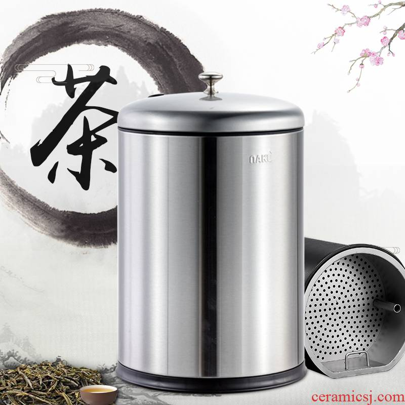 In hot, cool tea barrel barrels of home sitting room kung fu trash can stainless steel small filter In hot tea tea taking
