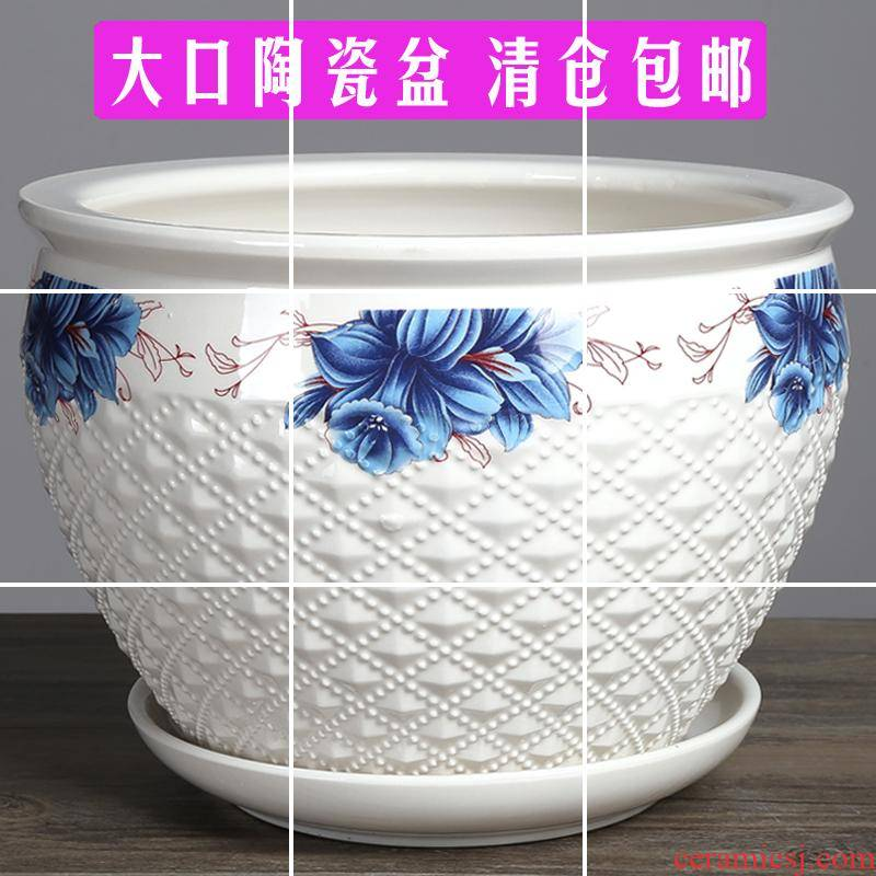 Ceramic POTS with tray was outsize move contracted creative peony faceplate potted bracketplant more than other meat the plants