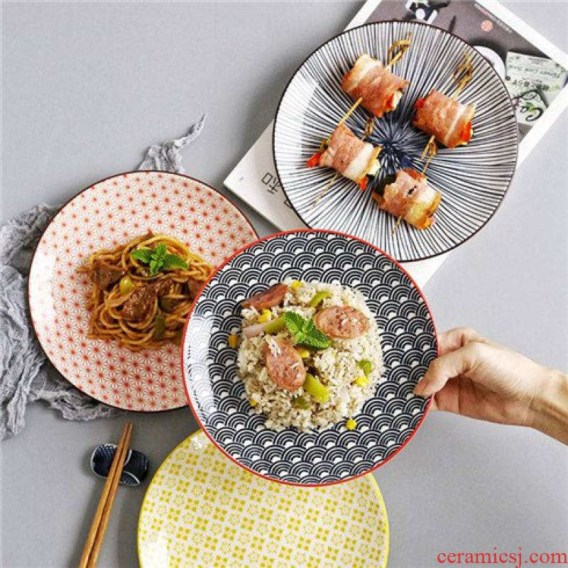 Japanese disc ceramic tableware nice dish dish dish creative household disc western food steak dishes