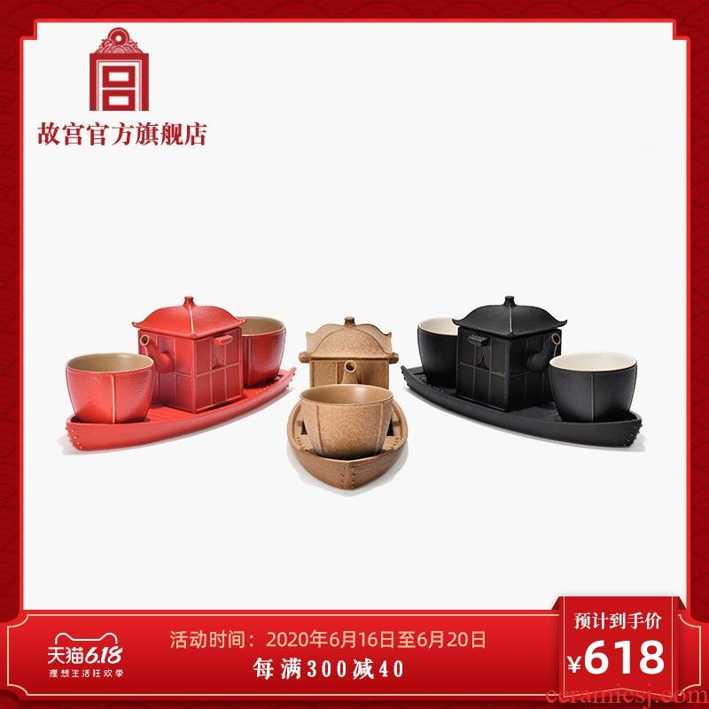 The palace qingming shanghe nameplates, sweet tea tea machine box gift set The national palace Museum official flagship store