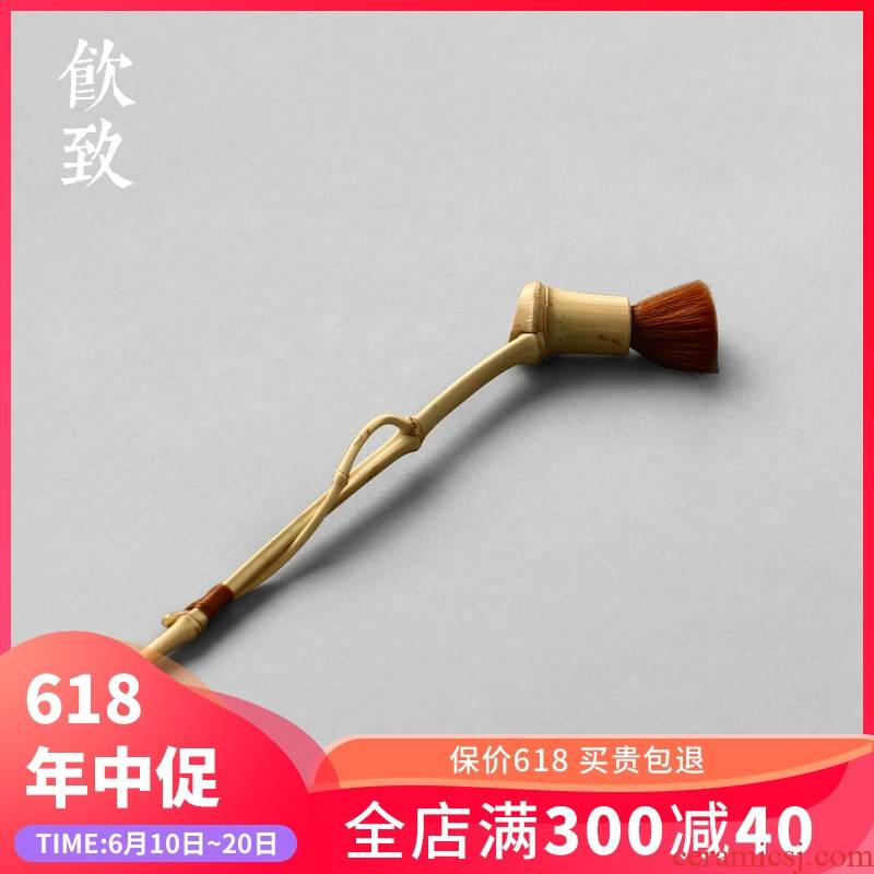 Ultimately responds to tea bamboo pen YangHuBi not easy minuter brush, brush wool checking bamboo tea tea tray tea tea taking of spare parts