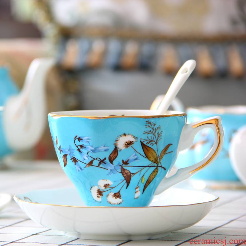 Coffee cup suit European ipads China English afternoon tea tea Coffee cups and saucers ceramic tea cup small key-2 luxury