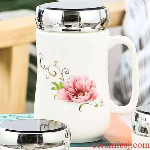 Lovely ceramic cup with cover ideas without a run of household glass cup coffee cup duo la tea fashion trends