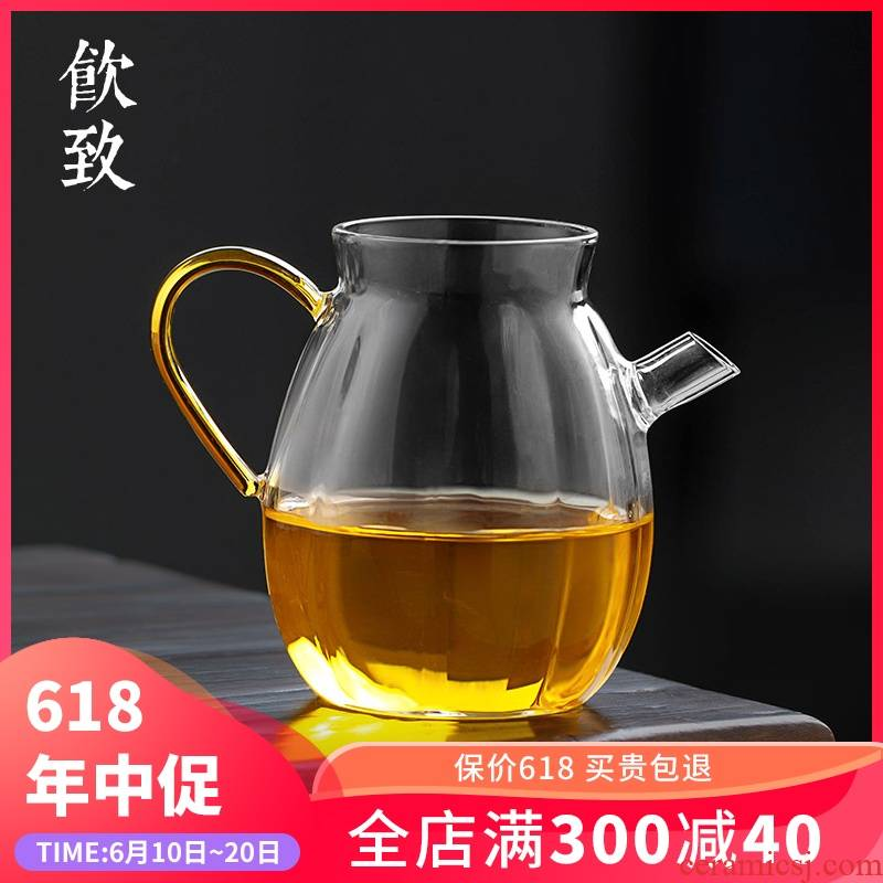 Creative fair keller to heat - resistant glass jug type transparent kung fu tea tea accessories glass portion male cup of tea