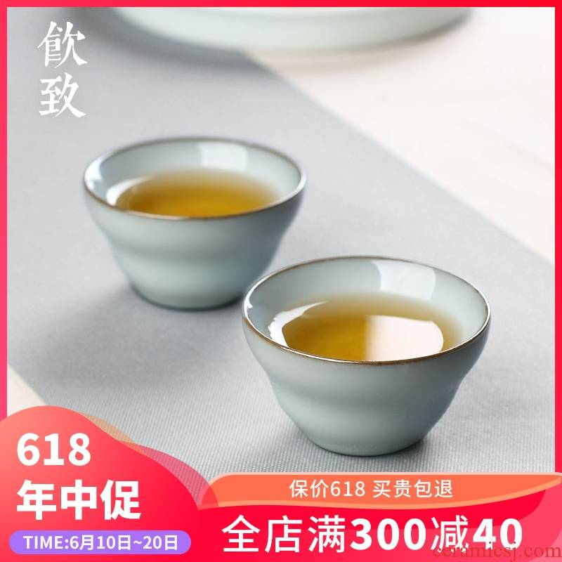 Ultimately responds to the jingdezhen up porcelain ceramic tea cup sample tea cup single cup a single large kongfu master CPU