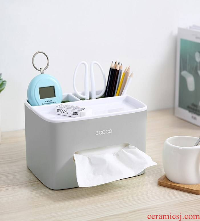 Tissue box smoke box home sitting room dining - room table contracted lovely receive multi - function creative home remote control
