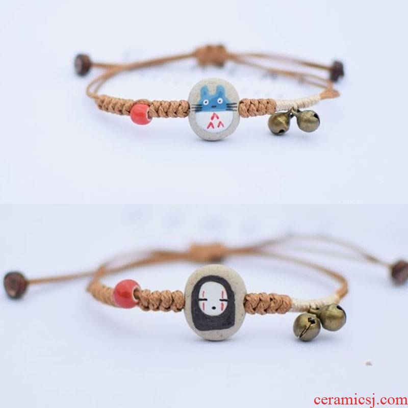 New the New student 's department of ceramic bracelet female han edition and contracted and pure and fresh character joker picking girlfriends a pair