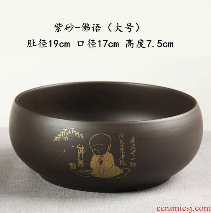 Wash the Japanese zen tea. Heavy large kung fu tea writing brush washer from household antique bowl with water, after the Wash with CPU