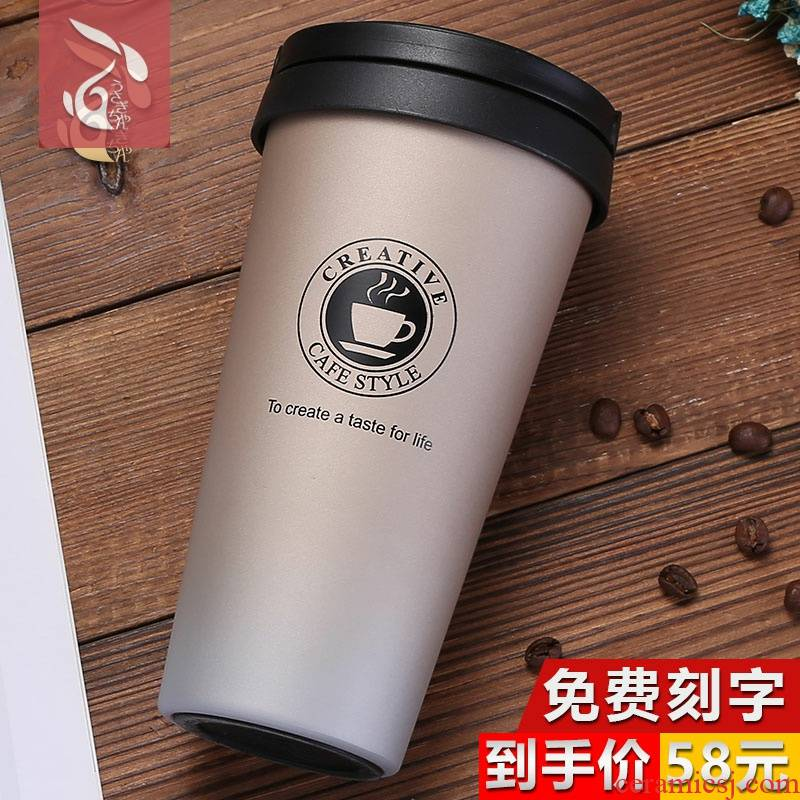 Which enable men and women students han edition fresh literary trend of the coffee cup cup cup getting portable tea cup