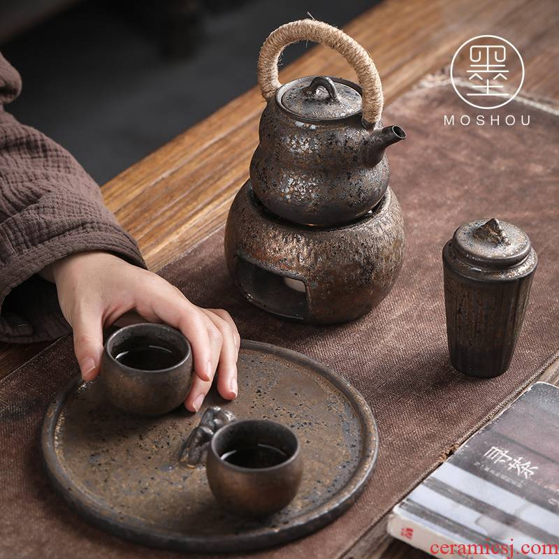 By Japanese kung fu tea set suit household ceramics girder teapot teacup dry tea consolidation set of tea set