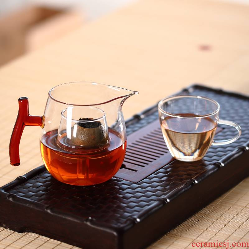 The Mini electric ceramic furnace special teapot filtering the boiled tea ware glass who was orange brew pot of kongfu tea cups