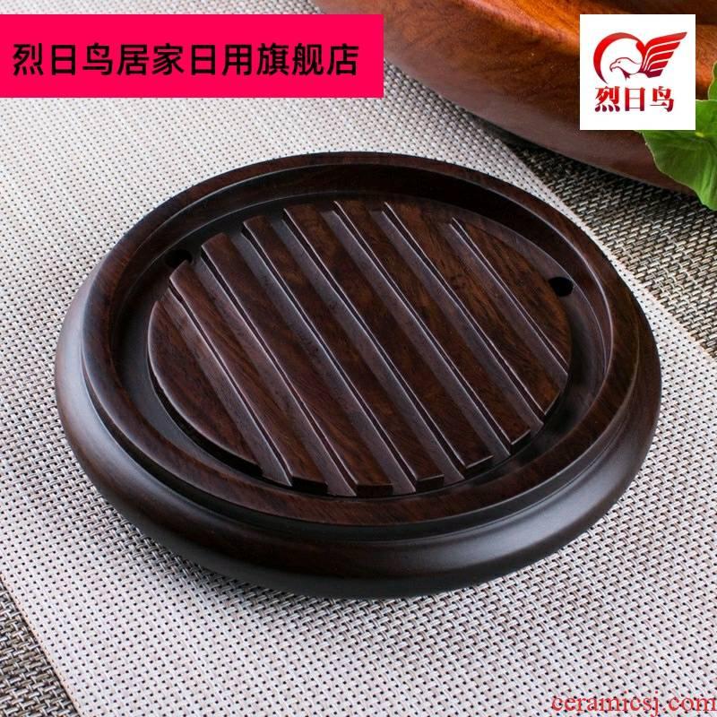 Ebony wood teapot mat pot bearing insulation kung fu tea pot of tea pot frame foster pot pad spare parts for the tea taking