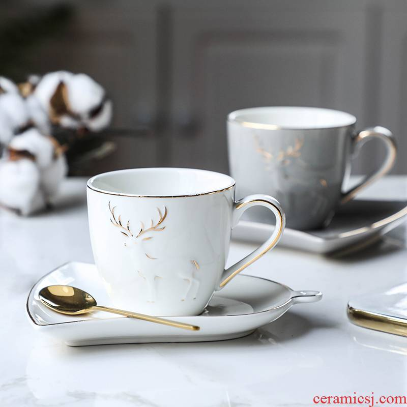 As to the Philippines British European key-2 luxury Nordic ceramic cup tea set small contracted household coffee cup of afternoon tea set