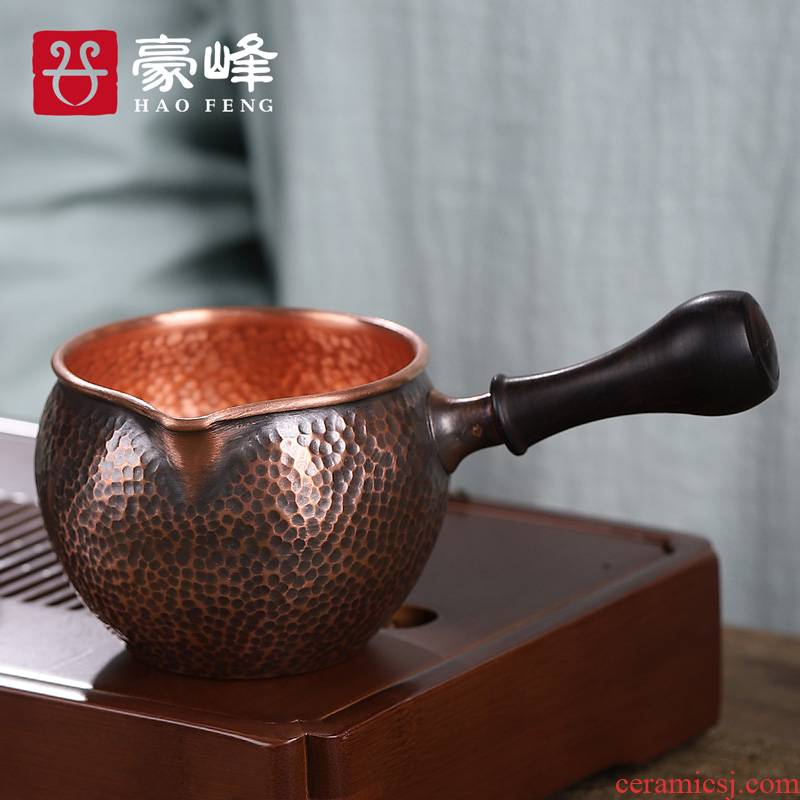 HaoFeng copper side to restore ancient ways just tea cup copper parts manual cup tea tea ware tea sea cooper