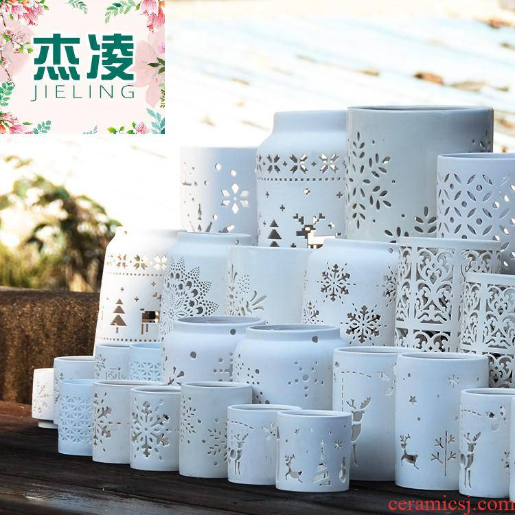 Spring park, contracted style white porous permeability more meat the plants tin caulis dendrobii hollow ceramic flower pot to the plants