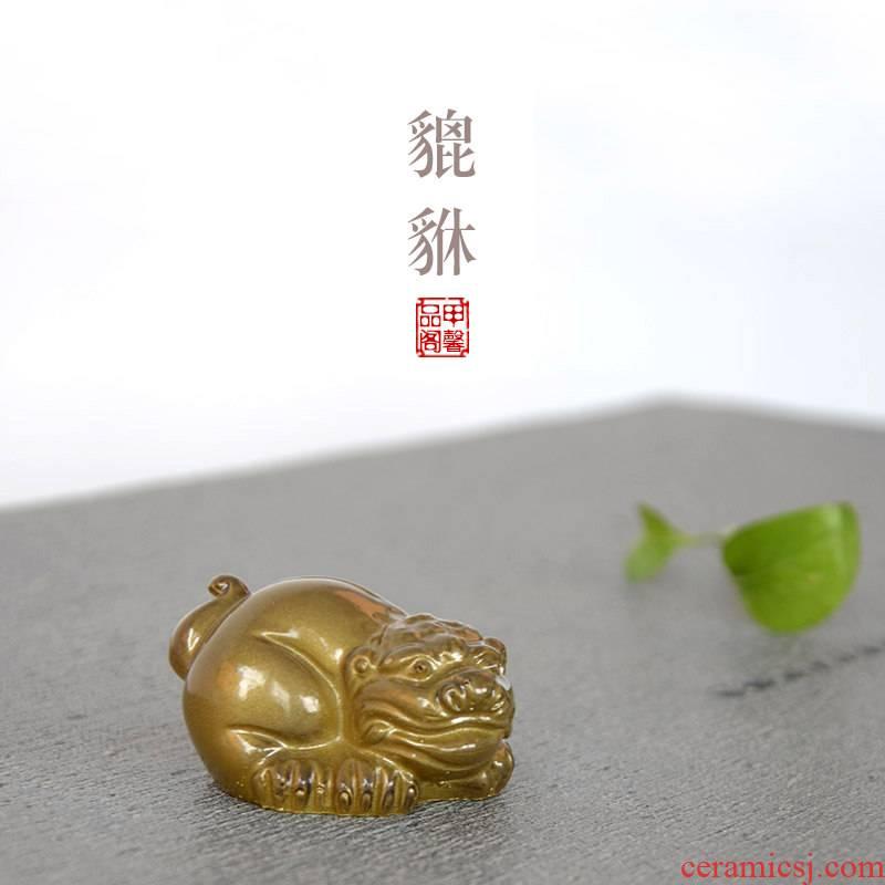 JiaXin tea pet color tea play furnishing articles furnishing articles in plutus looks a Xiu resin kung fu tea accessories