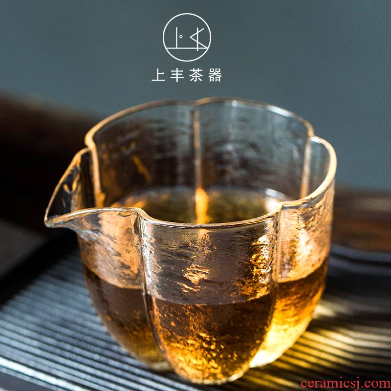Feng thickening fair heat - resistant glass tea cup on large kung fu tea set and a cup of tea ware accessories cups