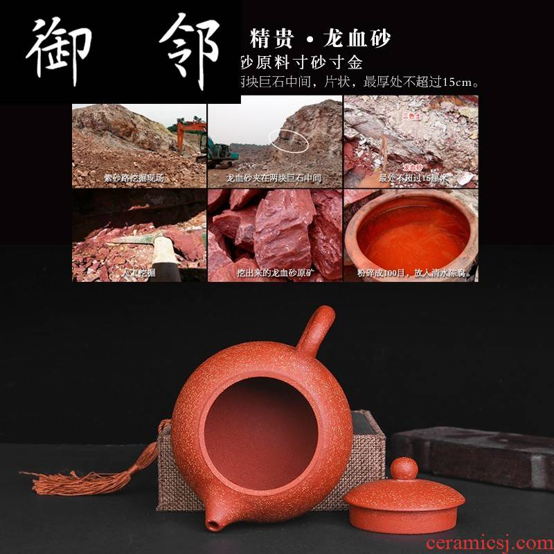 Yixing it pure manual famous quality goods all hand kung fu tea set the teapot teacup suit household ceramic pot