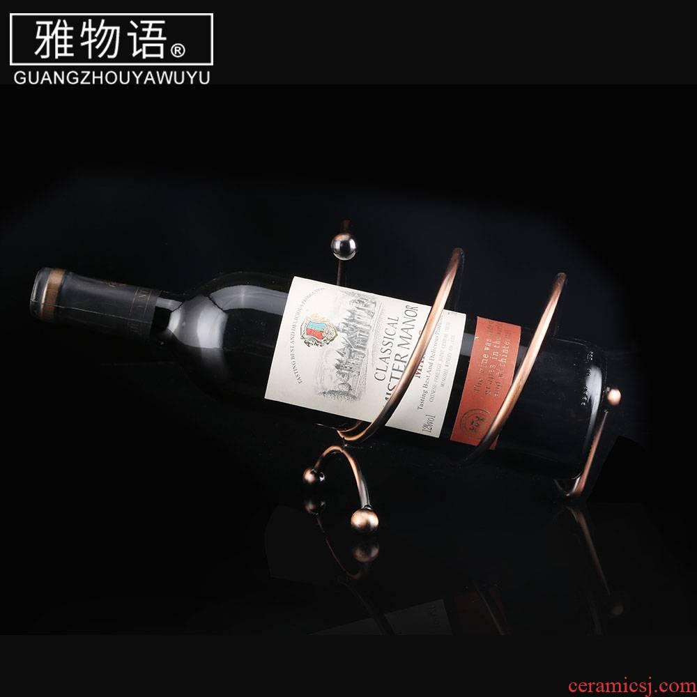 """And"" small spring wine racks wine furnishing articles creative display bottle home European wine rack"